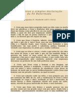 Breve Declaração de Fé por B.B. Warfield