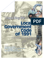 Unpacking the Local Gov't. Code of 1991 (LGA)