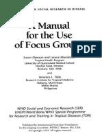 Manual Para Focus Group Ingles