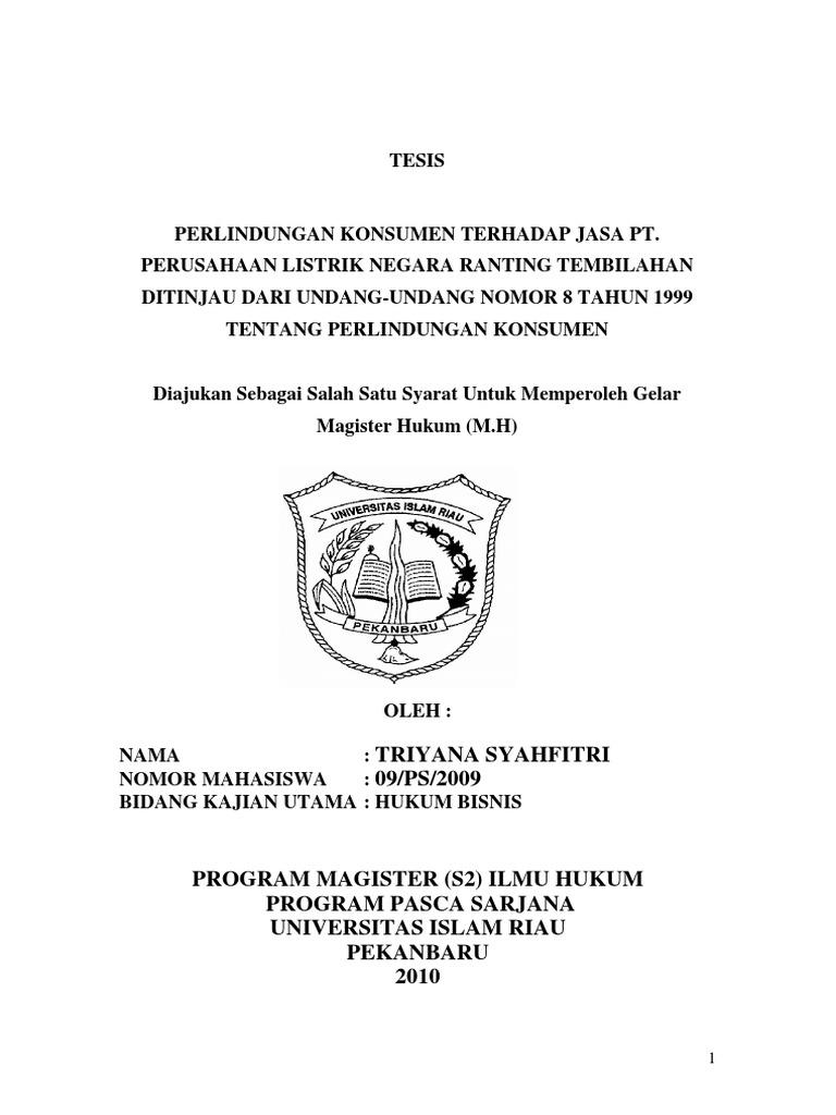 Contoh Tesis Hukum Bisnis Contoh Soal Dan Materi Pelajaran 10