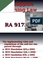 Philippine Nursing Act of 2002 Revised