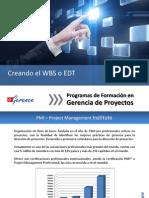 Creando El WBS o EDT
