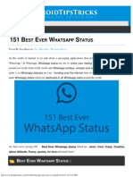 151 Best Ever Whatsapp Status