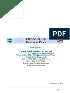 fast food restaurant business plan ppt