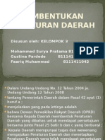 Ppt Pembentukan Peraturan Daerah
