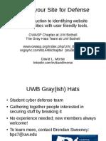 OWASP UWB Hacking for Defense 2015-02-27 Slides