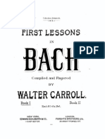 Carroll First Lessons in Bach Score