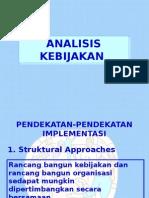 Analisis Kebijakan