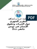 منظمة حرية و إنصاف – التقرير الشهري