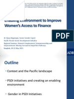 Enabling Environment to Improve Women's Access to Finance by Vijaya Nagarajan.pdf