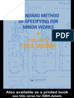 Standard Method of Specifying for Minor Works [1990]