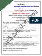 MK0013–Marketing Research