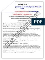 MU0015–Compensation and Benefits