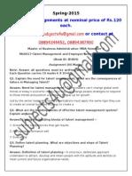 MU0017–Talent Management and Employee Retention