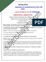 PM0017–Project Quality Management