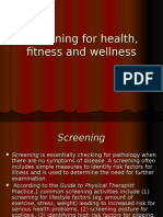 Screening for Health Fitness and Wellness (1)