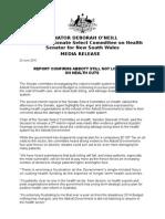 1510624 Media Release - o'Neill - Report Confirms Abbott Still Not Listening on Health Cuts