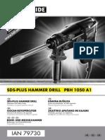 Parkside PBH 1050 A1 SDS-Plus-Hammer Drill Manual en EL