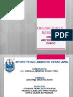 Operaciones Basicas Sobre Archivos en Disco