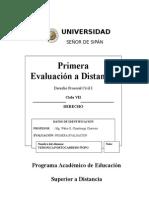 1era Ev. a Distancia Procesal Civil I