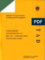 Guidline for Preliminaries