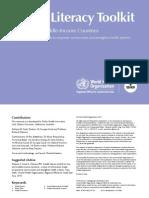 Health Literacy Toolkit  - WHO 2015