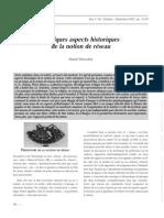 Daniel Parrochia-Quelques Aspects Historiques de La Notion de Reseau