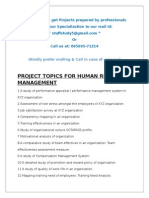 Project Topics for MBA-All