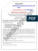 OM0012–Supply Chain Management