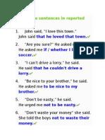 Quiz Reported Speech