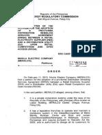 Order 2013-003rm Meralco Dwsa