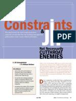 Constraints and JIT - Not Necessarily Cutthroat Enemies (Eli Shragenheim and Bill Dettmer) April 2001, APICS - The Performance Advantage
