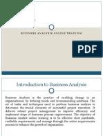 Business Analysis Online Training
