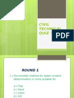 civiltechnicalquizquestions