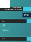 codes conventions styles and structures (done)