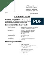 Resume (Abroad)
