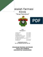 Farmasi Klinik Klp IV (Terapi Parenteral)
