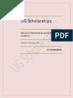 Ug Scholarships at iit kgp