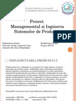 Proiect  Managementul si Ingineria Sistemelor de Productie