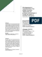 Développement Et Expérimentation d'Un Modèle de Gestion Collaborative Des Pratiques Informatiques à l'Usage Des Petites Et Moyennes Entreprises