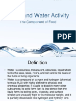 Water- The Component of Food