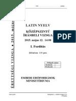 Latin középszintű írásbeli érettségi 2015 május