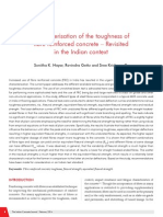 Toughness Characterization of FRC - Indian Context