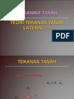Teori Tekanan Tanah Lateral 1