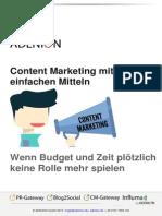 Content Marketing mit einfachen Mitteln
