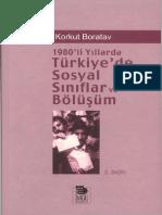 [Korkut Boratav] 1980-Li Yıllarda Türkiye-De Sosyal Siniflar Ve Bolusum