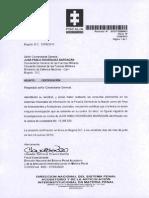 Señor General Comandante General de Las FFMM - Juan Pablo Rodríguez