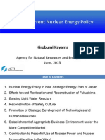 Japan's Current Nuclear Energy Policy