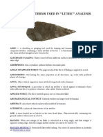 lithics glossary