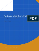 Sri Lanka Political Weather Analysis - June 2015